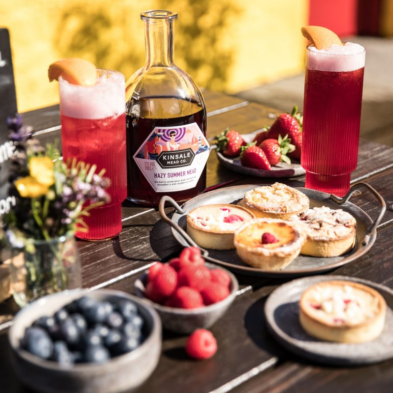 Sangria from Hazy Summer Mead with desserts