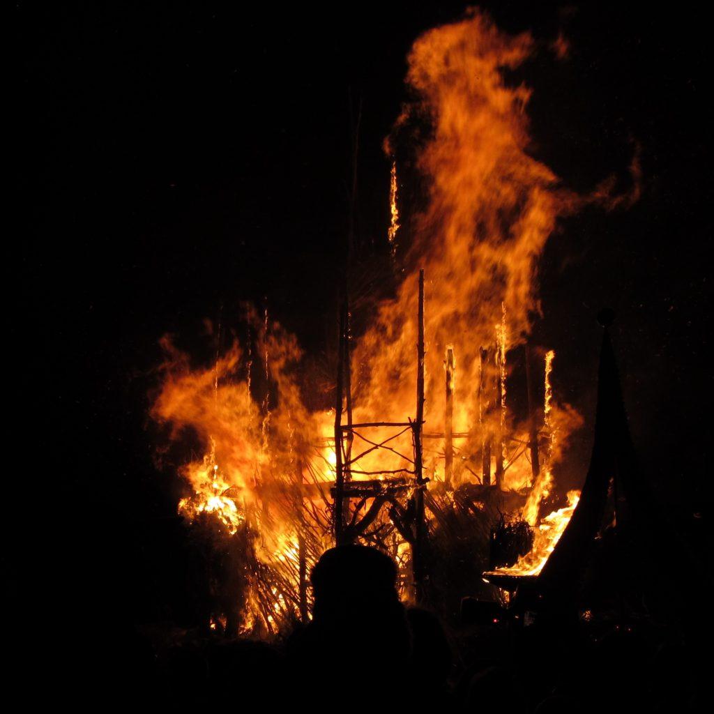 Bealtaine bonfire