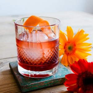 Wild red Mead negroni